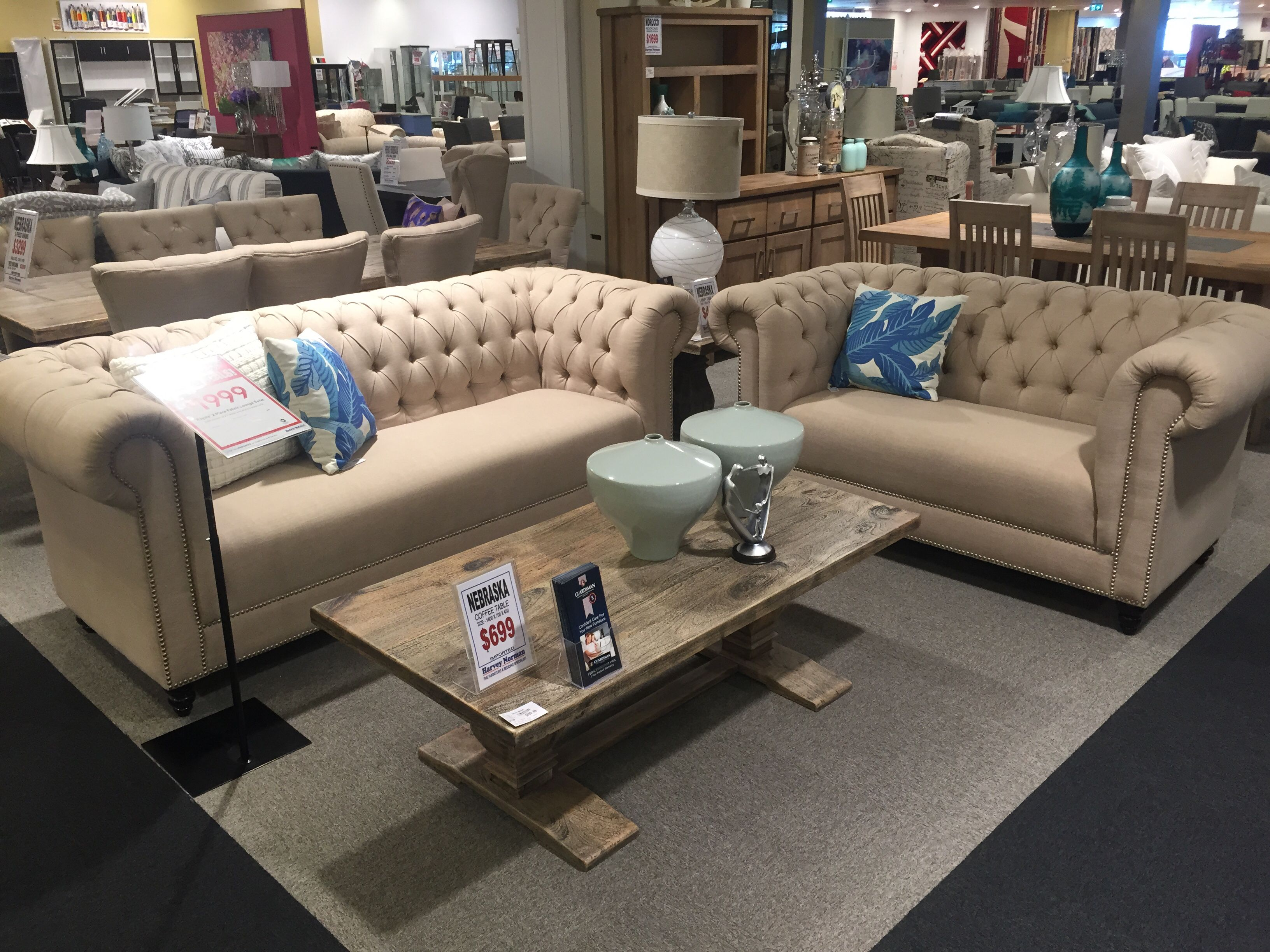 Royale imported at harvey norman 3 seater 210x95 2 seater 166x95