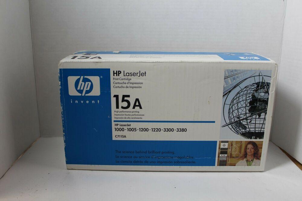 HP C7115A 15A Black Toner Cartridge LaserJet 3380 Genuine New Sealed Box