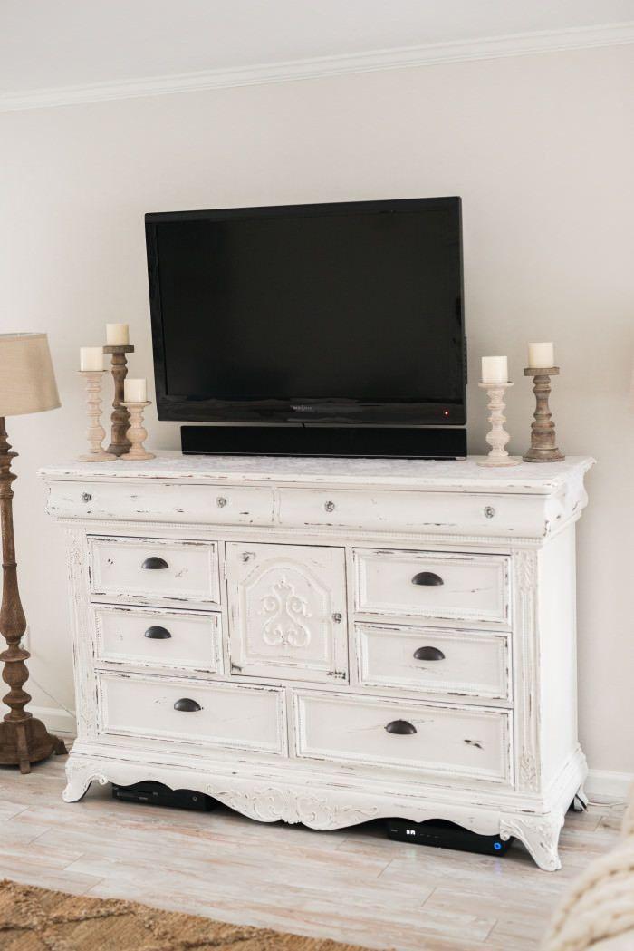 Diy Distressed Tv Console Cabinet Home Decor Ideas