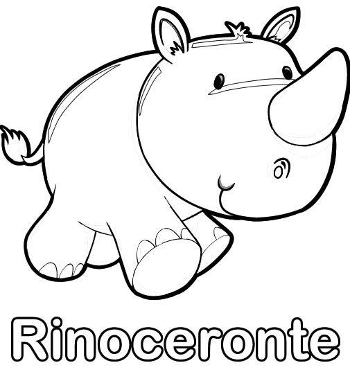 colorear-dibujo-de-rinoceronte.jpg (505×550) | bebe | Pinterest