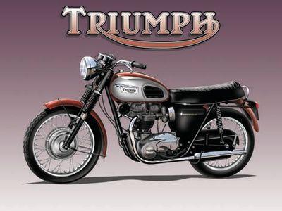 Triumph Bike Placa de lata