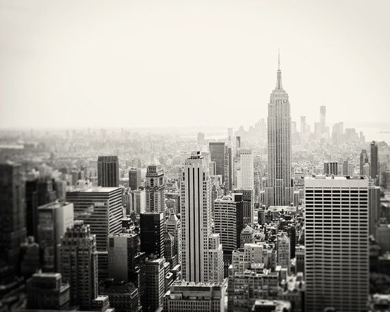 Skyline Photography Black White Photograph New York City
