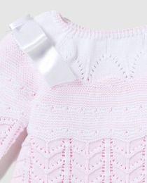 Jersey de bebé niña Dulces bicolor con lazos  d70e4deda5c8