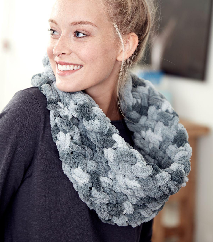 How To Make A Bernat Alize Blanket Ez Criss Cross Cowl