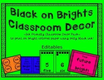 Classroom Posters Decor Supply Labels Word Wall Ink Friendly Print These Pages On Bright Colored Paper For