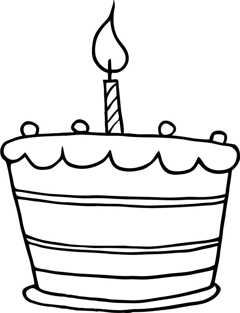 Magnificent Simple Cake Drawing Cake Clipart Funny Birthday Cards Online Alyptdamsfinfo
