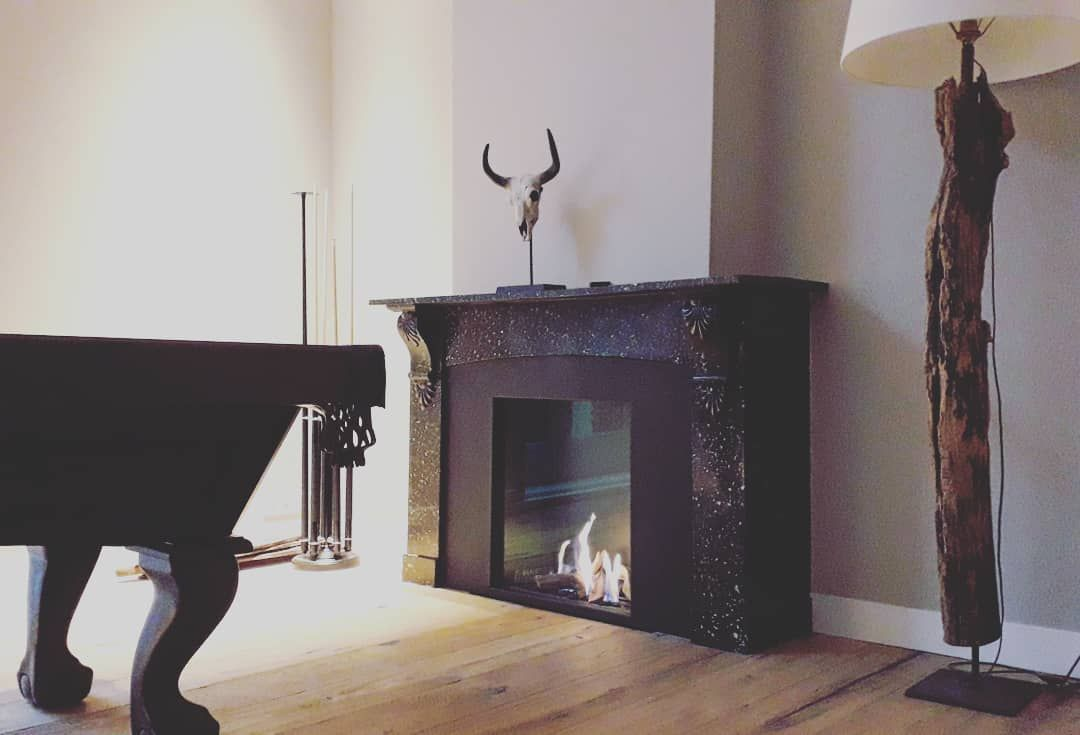 Element 4 marmer schouw #marble #gashaard #fireplace #openhaard