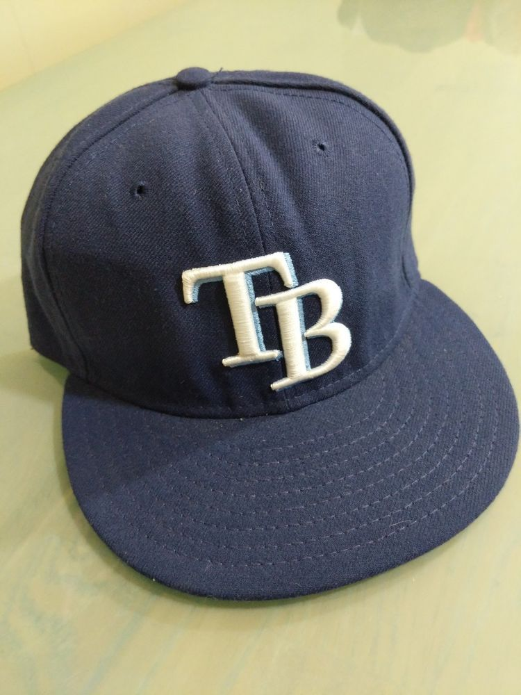 2f14d7e9986 New Era Tampa Bay Rays GAME 59Fifty Fitted Hat (Light Navy) MLB Cap 7 3 8   fashion  clothing  shoes  accessories  mensaccessories  hats  ad (ebay  link)
