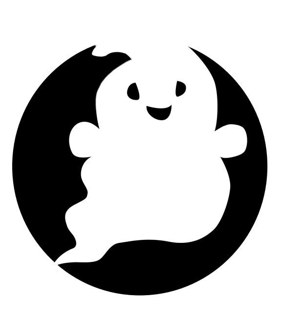 Adorable little ghost! 50+ templates avialable for printing on the ...