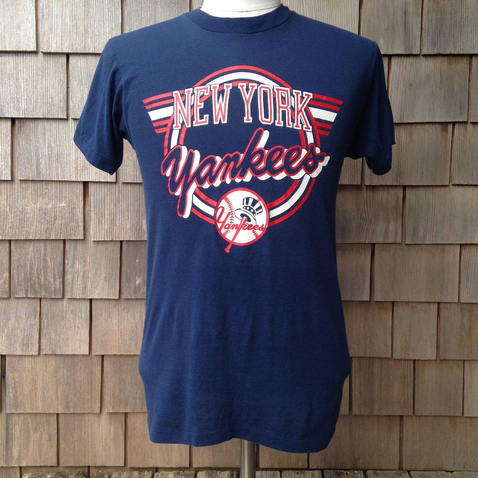 80s Vintage New York Yankees T Shirt By Screen Stars Small Etsy Yankees T Shirt New York Yankees Vintage New York