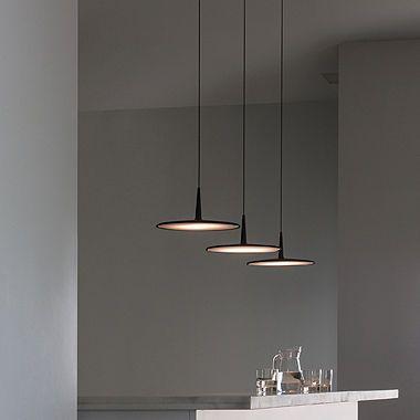 Lampe Suspension Design Minimaliste En Methacrylate Fluorescente Skan Vibia Lighting Suspension Luminaire Cuisine