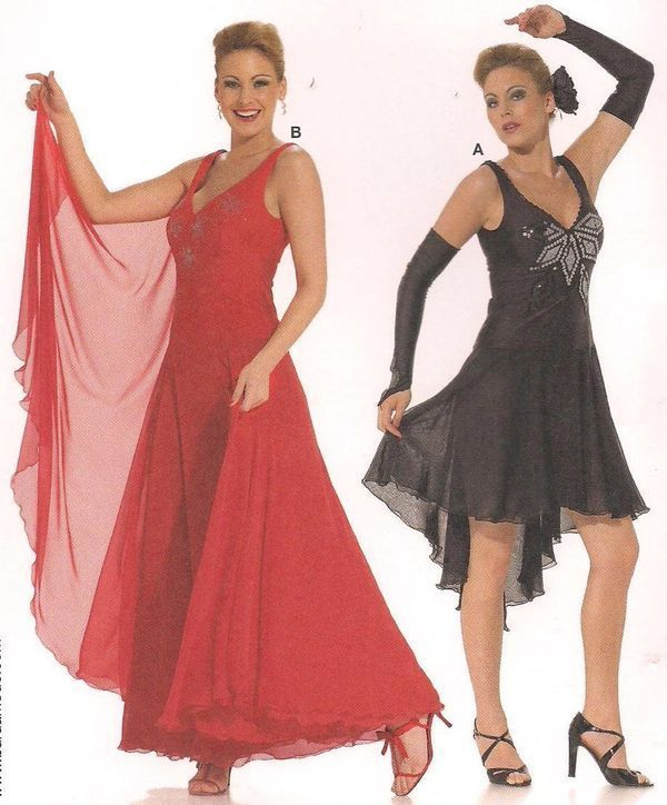 c6b0cc589 ... Dress Plus Size Misses Sewing Pattern Burda 7879 10 12 14 16 18 20  Halloween Costume Dancer Womans. Burda 7879 Ballroom Dance Salsa Latin  Ballet Tango ...