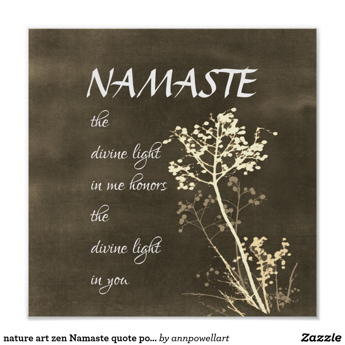 Nature Art Zen Namaste Quote Poster Namaste Quotes Posters