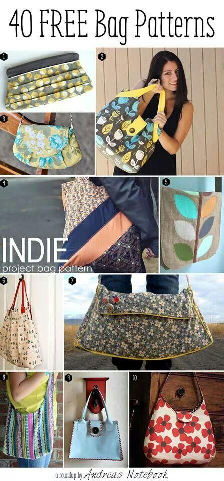 Purse/Bag Patterns | sewing | Pinterest | Taschen nähen, Nähen und ...
