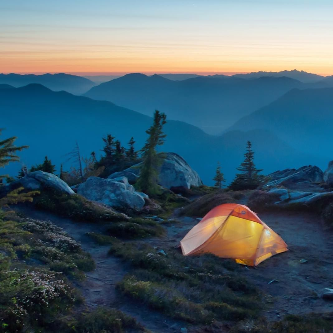 """Nate from @back40outfitters was more than thrilled for a return to his favorite #campspot overlooking Mt. Baker & the Puget Sound - """"Roof of the World"""" now up on camptrend.com  #camptrend #camping by camptrend"""