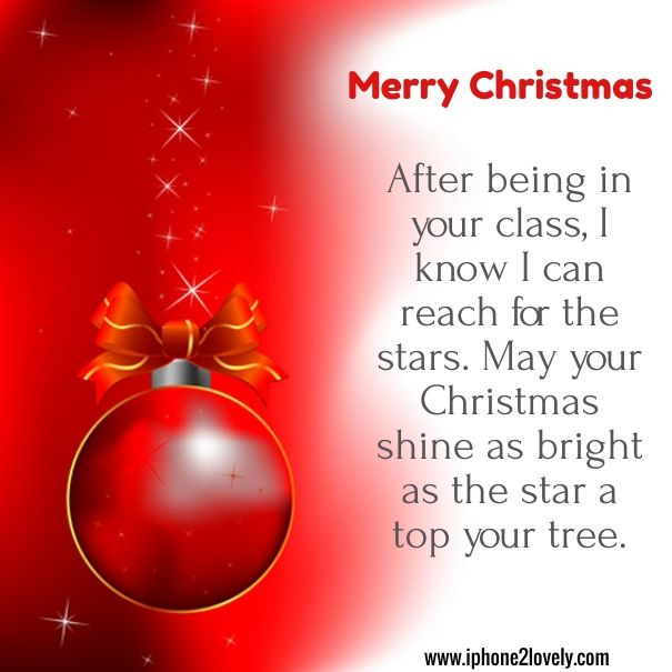Merry Christmas Wishes For Teachers | Merry Christmas Quotes Wishes ...