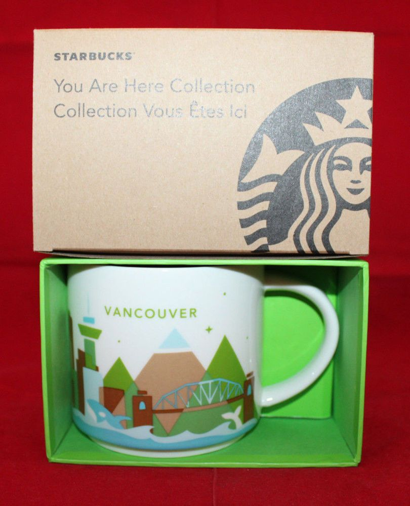 Starbucks You Are Here Collection Vancouver Bc Canada Coffee Mug Cup 14oz New Starbuckscoffee