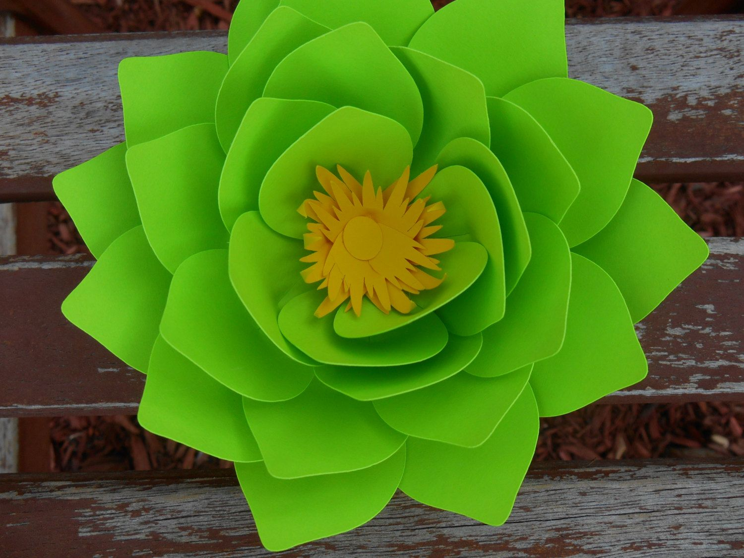 Paper Lotus Flower Made In Any Color, table decoration