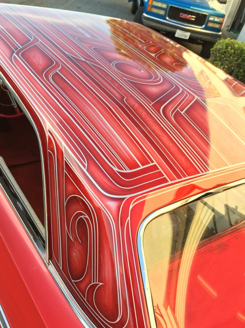 Custom paint roof on a 64 impala wit house of kolors paint