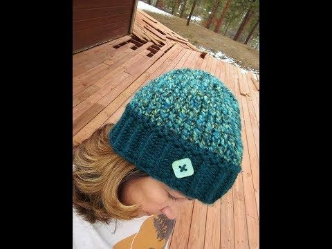 How To Make A Bicolor Hat In Garter Stitch Tutorial Step By Step