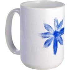 Blue metallic flower Mug