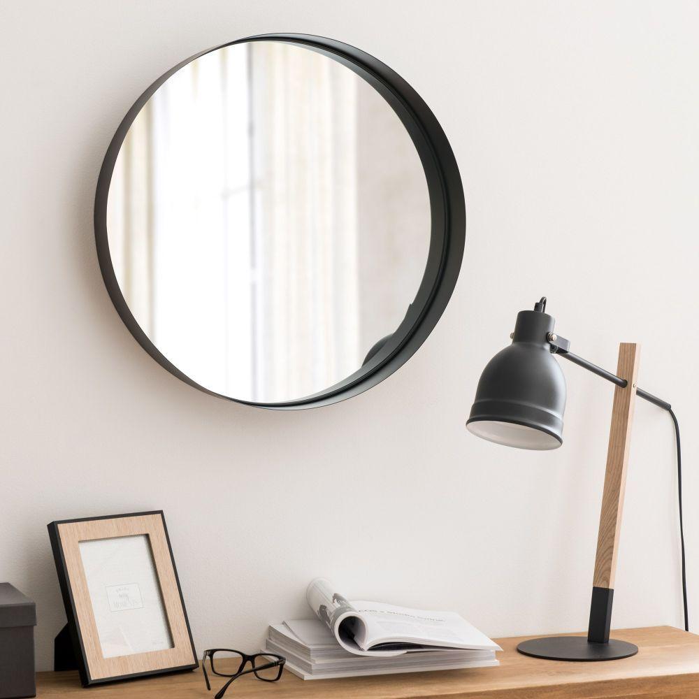 Miroir en m tal noir d56 maisons du monde salle de bain pinterest miroir en m tal noir - Accessoires salle de bain maison du monde ...