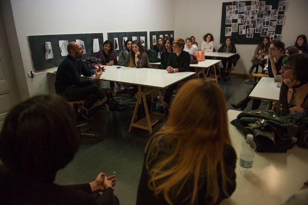Albino D'Amato talking to Students during the Opening Ceremony of the Academic Year   #albinodamato #maisonalbino #accademiacostumeeemoda