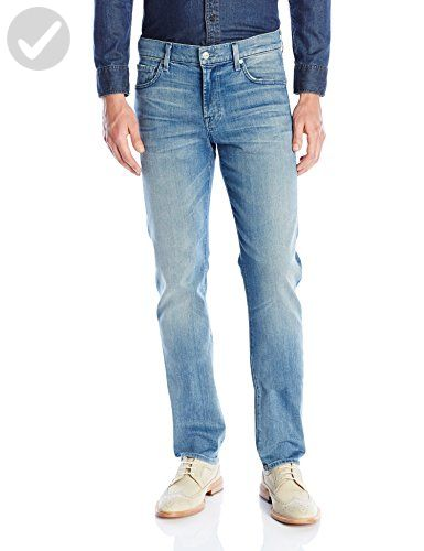 7 For All Mankind Mens Slimmy Slim-Straight Luxe Performance Jean