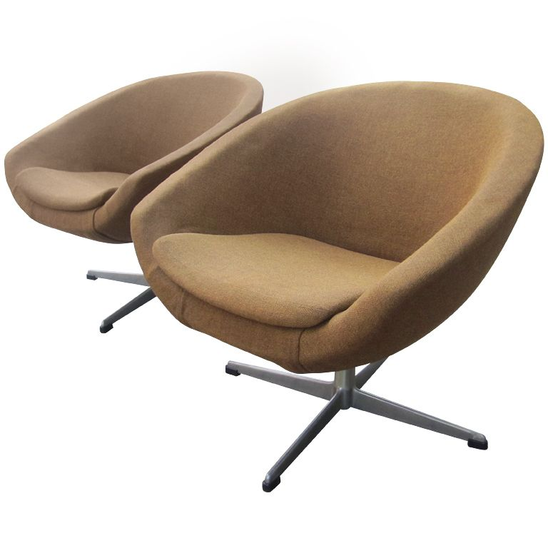Pair of overman swivel chairs from sweden swivel chair for Pair of chairs for living room