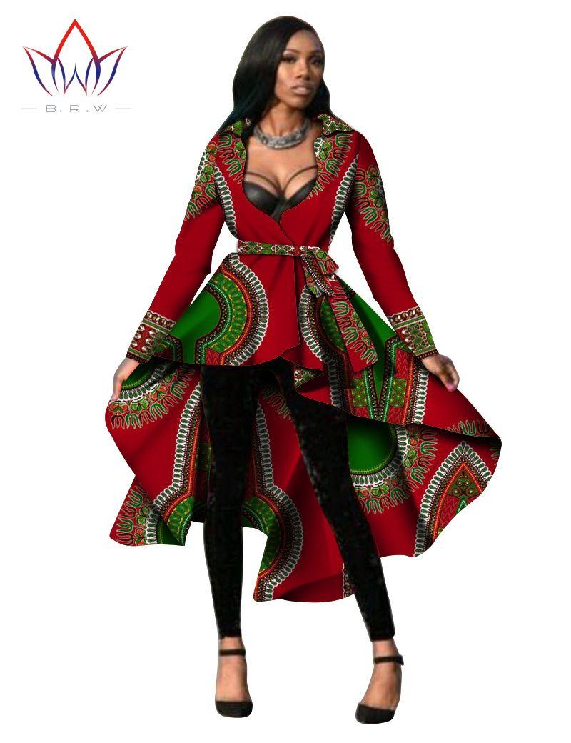Günstige Frauen Afrikanische Kleidung Dashiki Trenchcoat ...