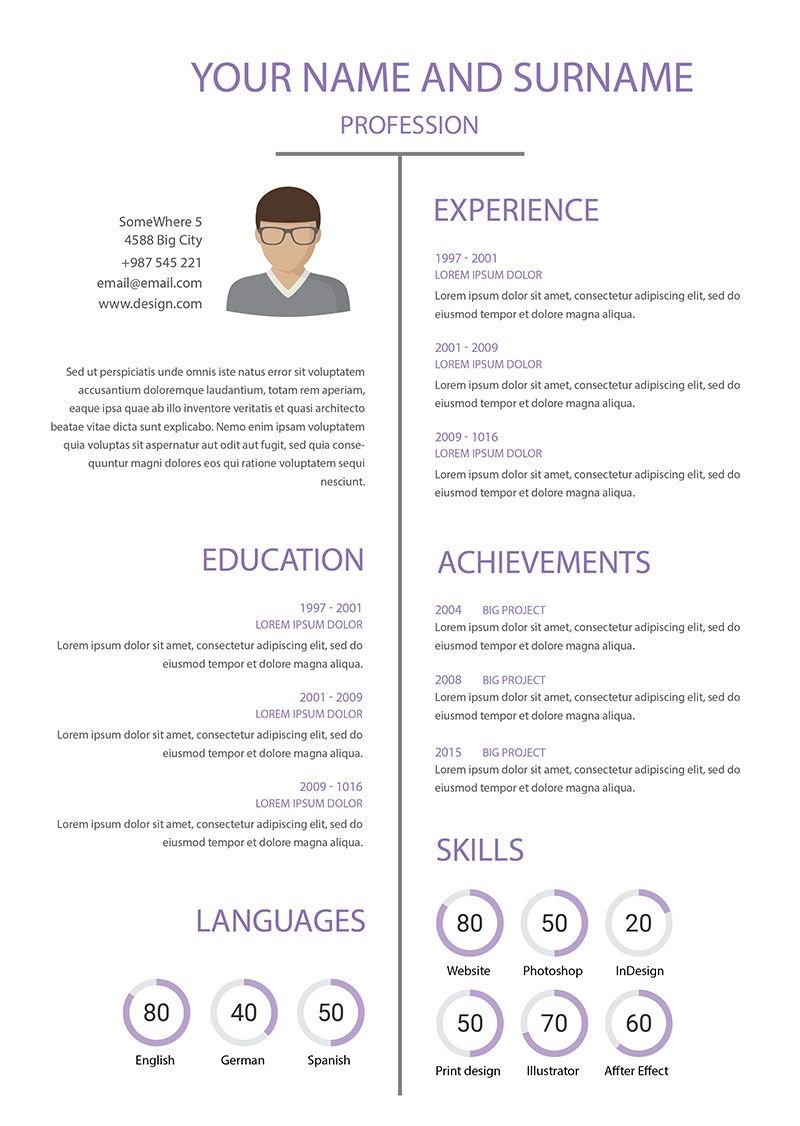 Template 02 Resume Pinterest Graphic Designer Cv Template And