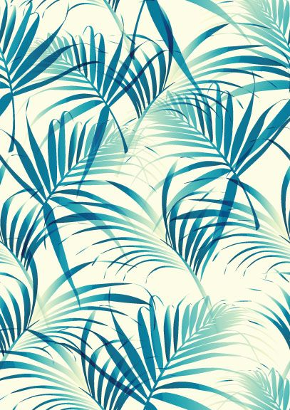 Beautiful Vector Palm Leaf Pattern