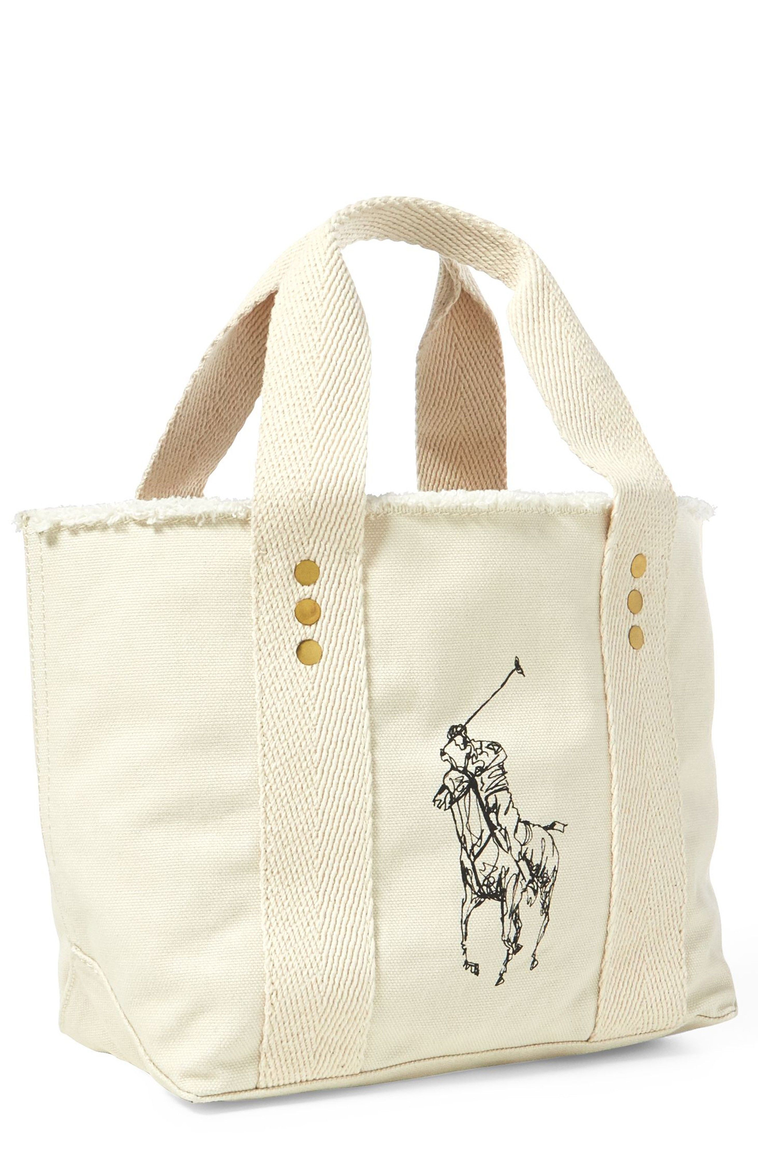 db1954b51228 New POLO RALPH LAUREN Small Pony Canvas Tote online. Find the perfect LOVE  Moschino Bags