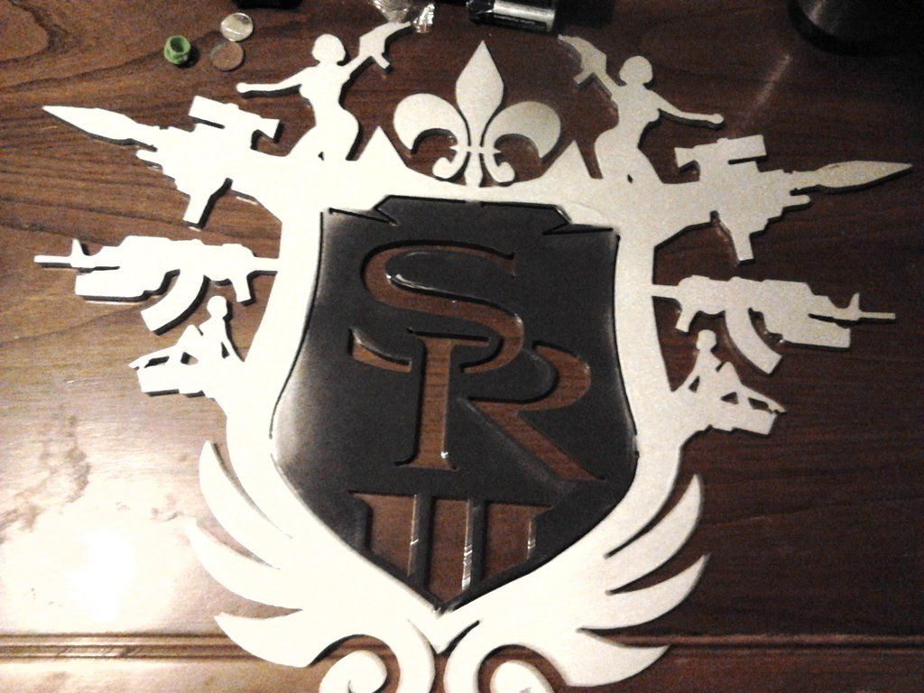 Saint's Row The Third logo Steel Cut Out by chazman17 on deviantART