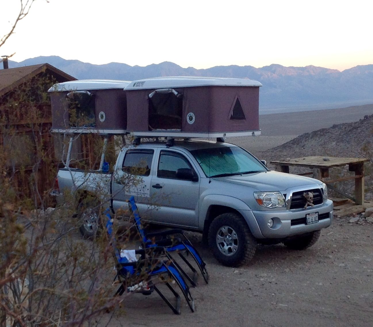 Two roof top tents installed on the same Toyota Tacoma truck. .bigfoottents.  sc 1 st  Pinterest : tacoma roof top tent - memphite.com