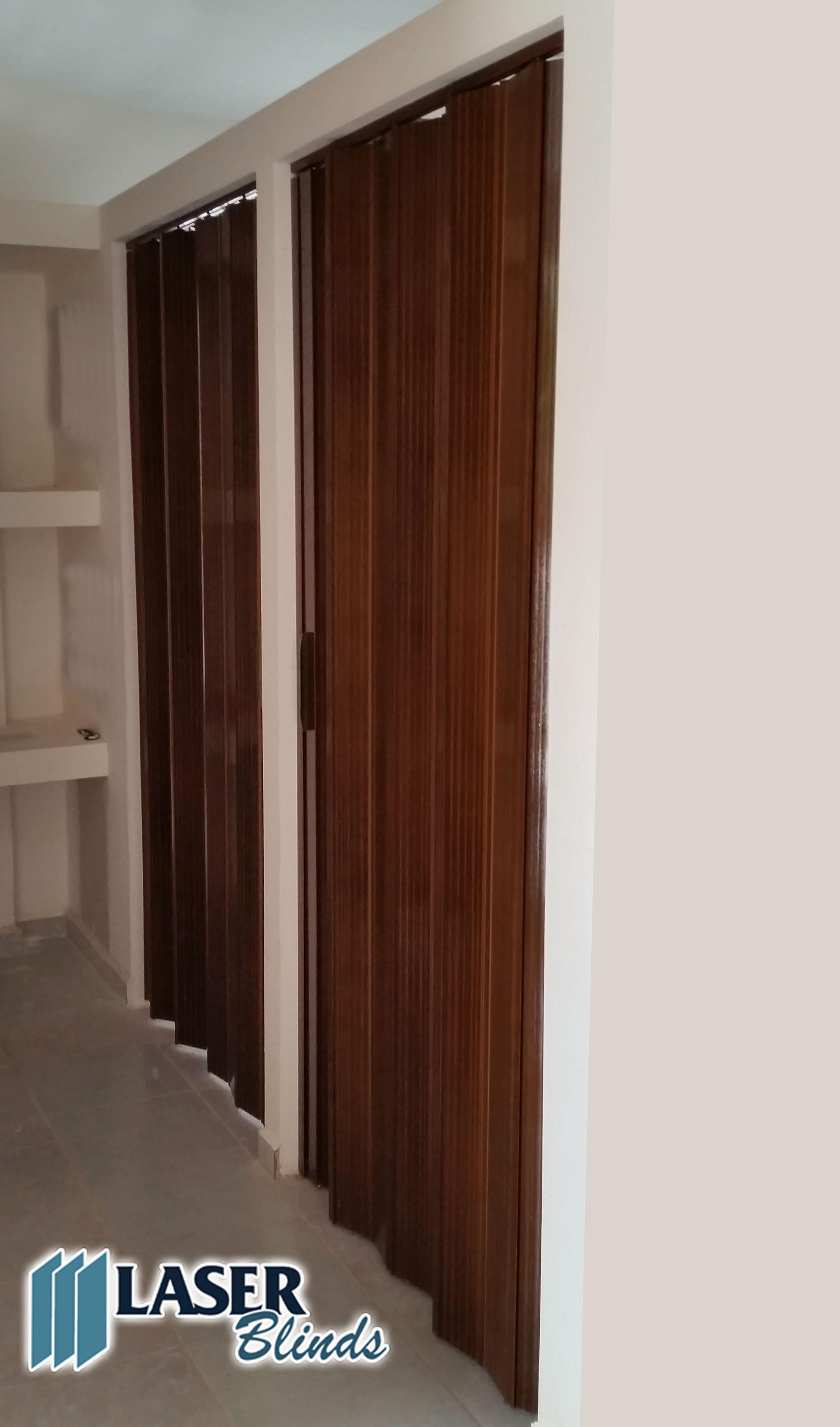 Puertas plegables de pvc color caoba - Fabrica de puertas plegables ...