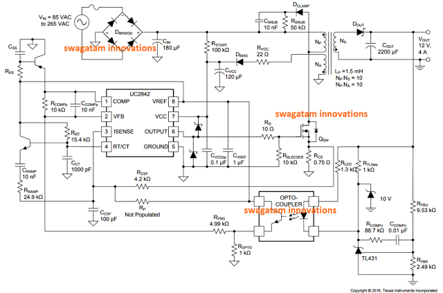 Looking for a cool and simple to build 12V 2 Amp SMPS Circuit ...
