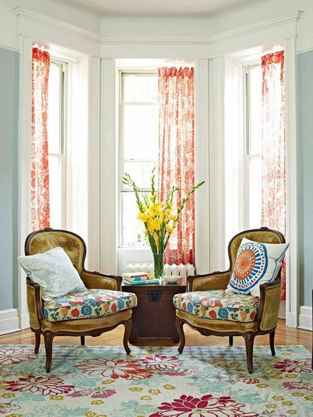 Decoration Ergonomic Armchair With Pillow Feat Fetching Bay Window