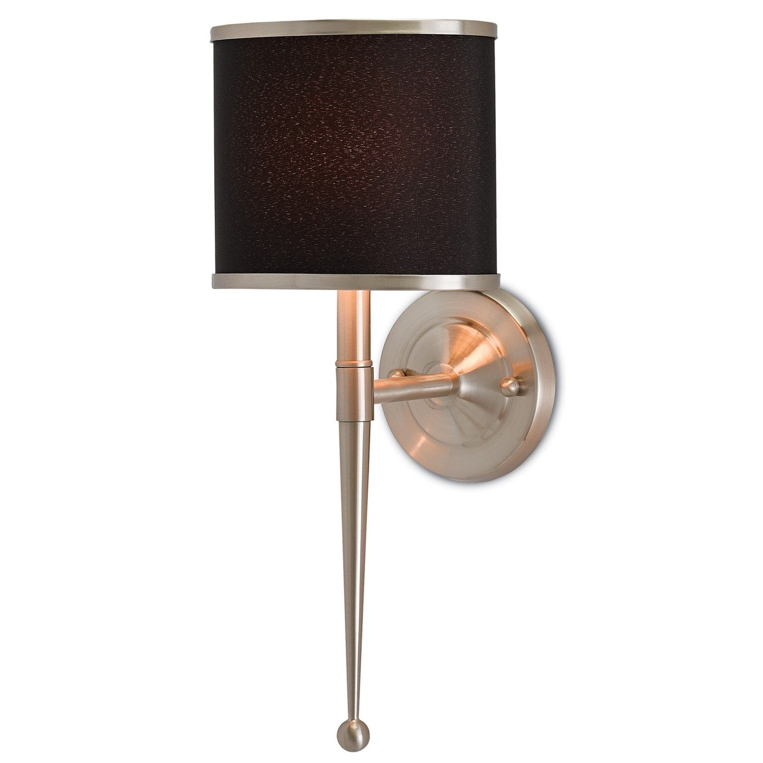 Bathroom Ideas Nickel Wall Sconce With Black Shade Light Sconces