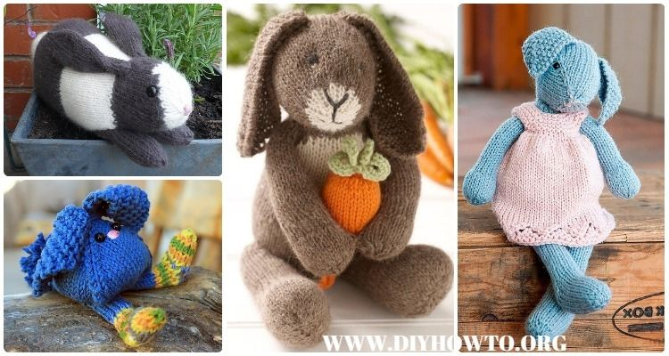 Amigurumi Knit Bunny Toy Softies Free Patterns&Paid, Toy Bunny Free ...