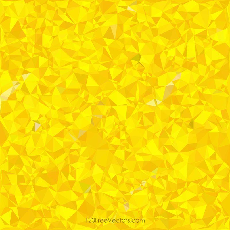 Polygonal Yellow Pattern Background Design | Yellow