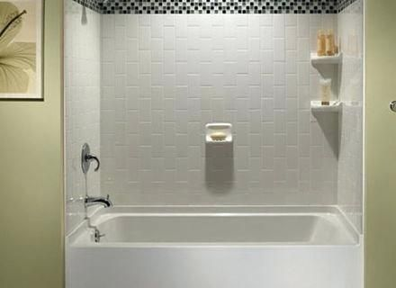 white subway tile tub surround ideas and pictures around