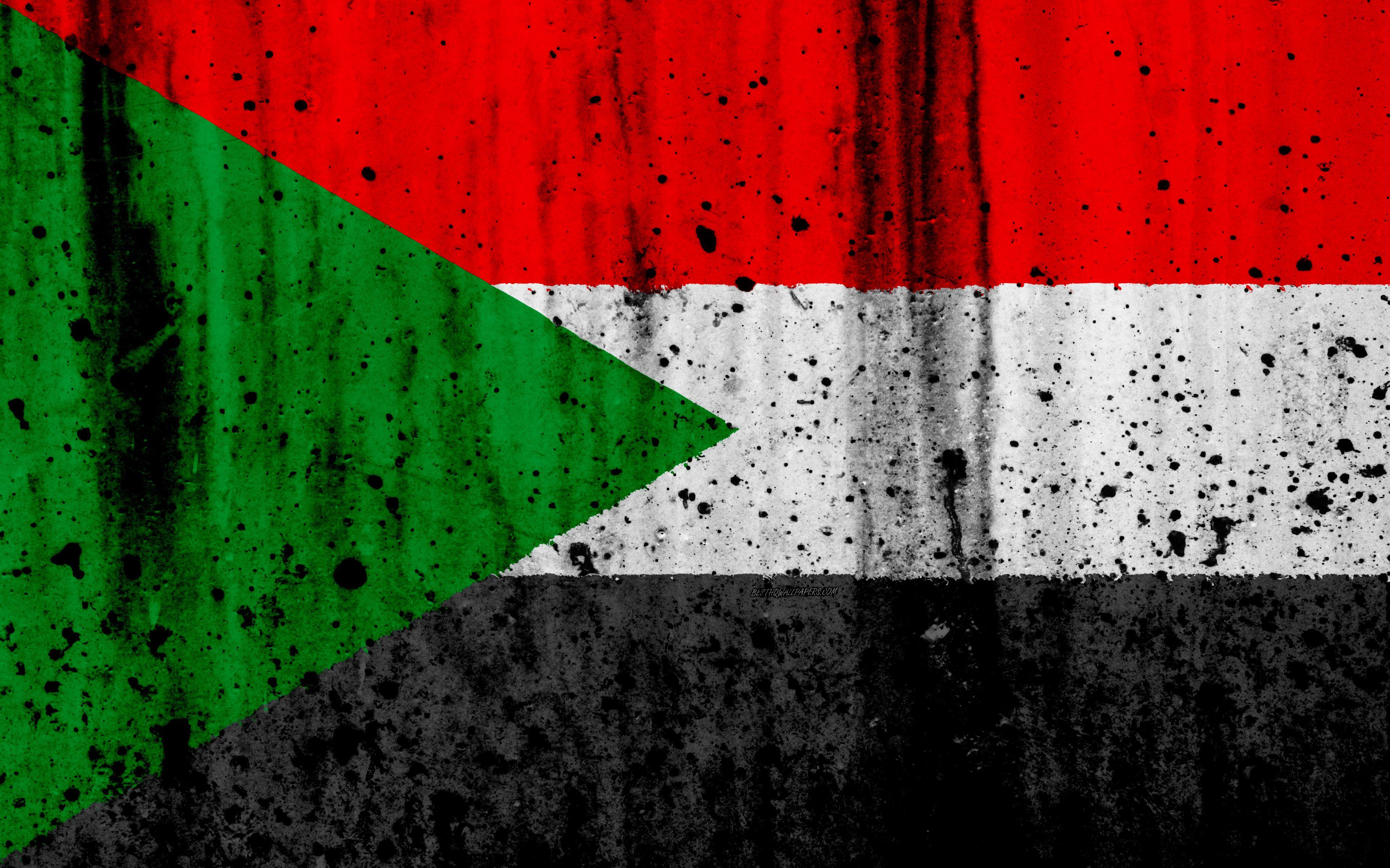 السودانية العلم 4k الجرونج علم السودان أفريقيا السودان الرموز الوطنية السودان العلم الوطني Sudan Flag Sudanese Flag Flag Tattoo