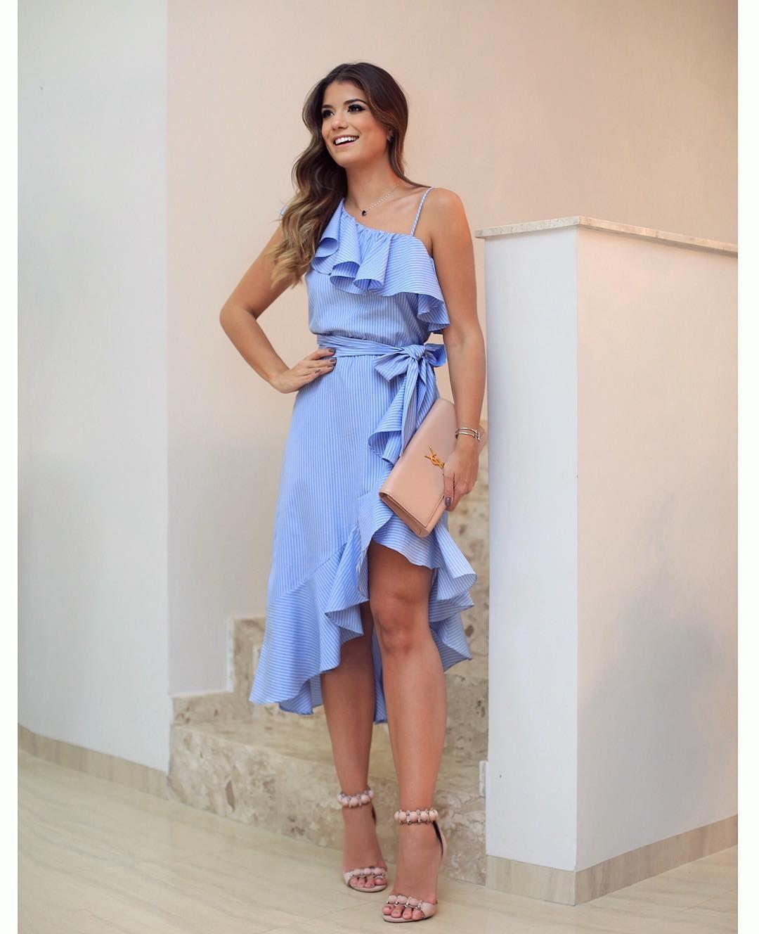 Vestido casual azul  05ed9e179b6e