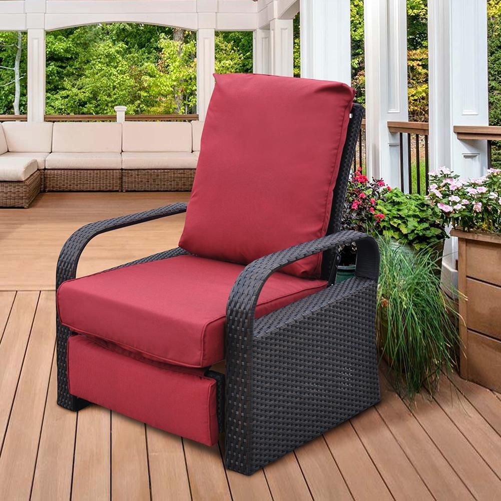 Outdoor Wicker Recliner Recliner Chair Rattan Recliner Single Chair In 2020 Plastic Patio Chairs Outdoor Recliner Outdoor Rocking Chairs