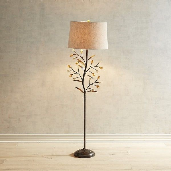 Pier 1 Imports Crystal Leaf Floor Lamp 149 Liked On Polyvore