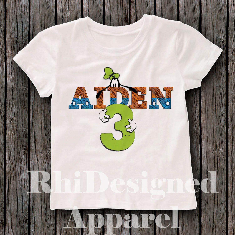 e0e9db34ca9 Custom designed goofy esque 2nd 3rd 4th 5th Birthday shirt tshirt outfit  great for boys or