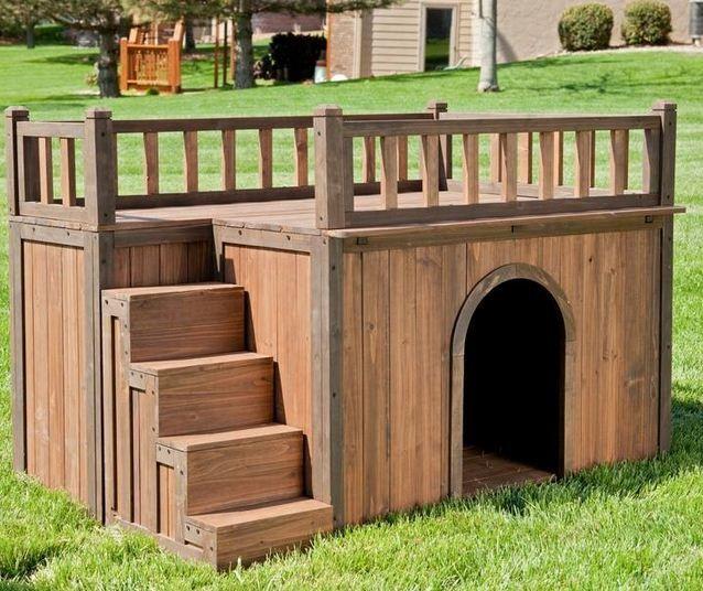 Dise os de casas para perros casa para perro madera for Casas para perros