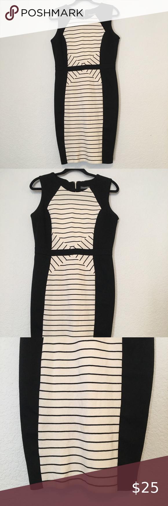 Black White Striped Dress Black White Striped Dress White Striped Dress Striped Pencil Dress [ 1740 x 580 Pixel ]