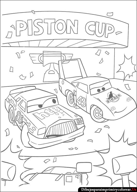 Kleurplaten Cars Kerst.Dibujos De Cars Para Imprimir Y Colorear Kleurplaten Cars